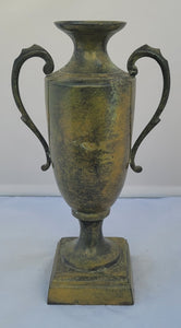 Vintage-Style Metal Faux Patinated Decorative Urn