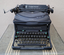 Load image into Gallery viewer, Vintage Industrial Early American Underwood Typewriter
