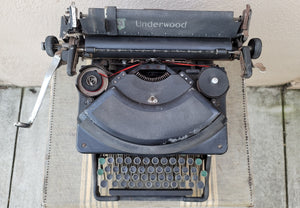 Vintage Industrial Early American Underwood Typewriter