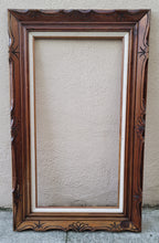 Load image into Gallery viewer, Vintage Dark Brown Wood Arts and Crafts Picture Frame