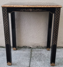 Load image into Gallery viewer, Chinese Black Lacquer Side Table