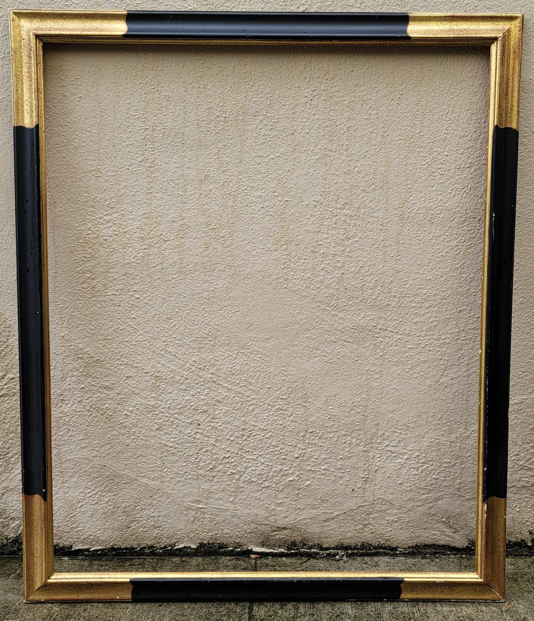 Vintage Black and Gold Picture Frame