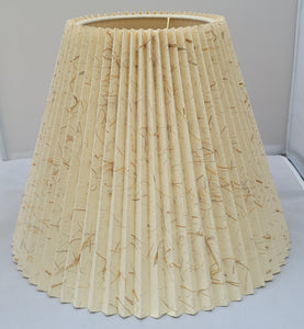 Vintage Natural Pleated Paper Lamp Shade