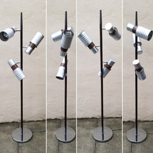 Load image into Gallery viewer, Mid-Century Modern Vintage Industrial 3 Light Can Light Floor Lamp