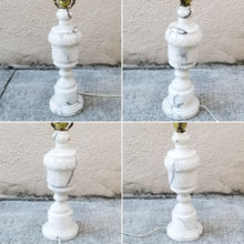 Load image into Gallery viewer, Vintage Italian Hand-Carved Marble Table Lamp