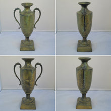 Load image into Gallery viewer, Vintage-Style Metal Faux Patinated Decorative Urn