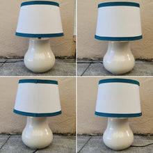 Load image into Gallery viewer, Vintage Mod Cream Crackle Ceramic Table Lamp