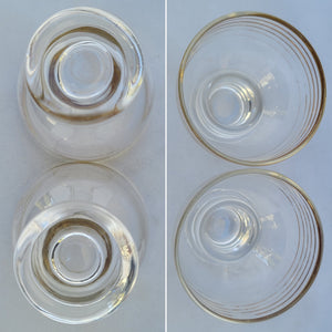 Vintage Petite Gold-Striped Cordial Apertif Glasses