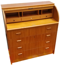 Load image into Gallery viewer, Vintage Danish Modern Roll Top Secretary Desk