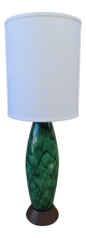 Load image into Gallery viewer, Mid-Century Modern Emerald Green Ceramic Table Lamp