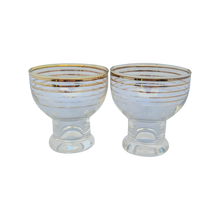 Load image into Gallery viewer, Vintage Petite Gold-Striped Cordial Apertif Glasses