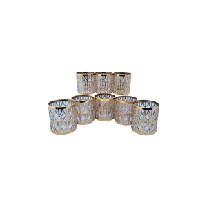 "Vintage 1960s ""El Tabique De Oro Gold"" by Imperial Glass of Ohio Rocks Old-Fashioned Lowball Glasses With 22k Trim - Set of 8"