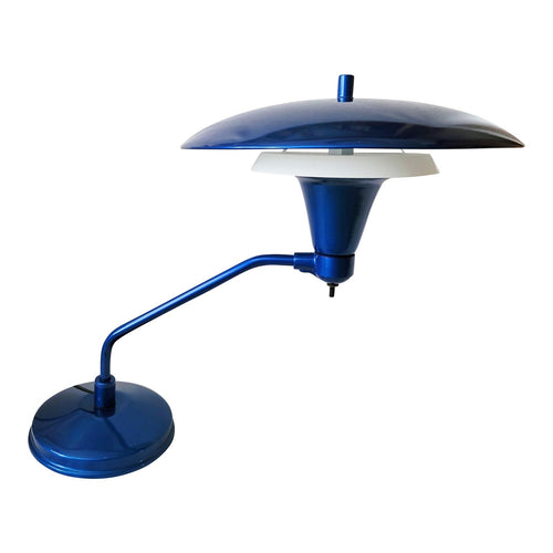 Vintage Industrial Blue UFO Desk Lamp by Art Specialty Company