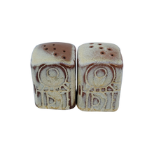 "Load image into Gallery viewer, Vintage Frankoma ""Mayan Aztec Desert Gold"" Salt and Pepper Shakers"