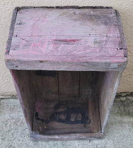 Vintage Industrial Primitive Faded Red Fruit Crate