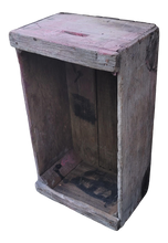 Load image into Gallery viewer, Vintage Industrial Primitive Faded Red Fruit Crate