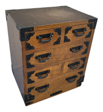 Load image into Gallery viewer, SOLD - Vintage Tansu Style Japanese Jewelry Box Chest of Drawers