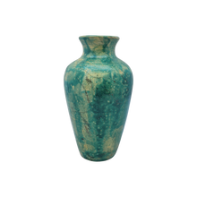 Load image into Gallery viewer, Vintage Turquoise Clay Vase