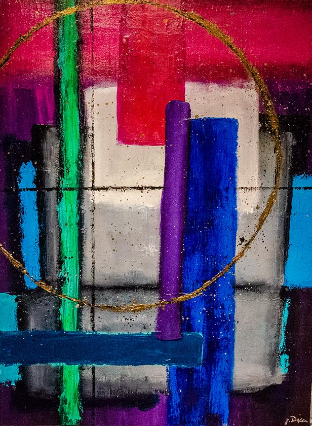 'Bond' Original Abstract Painting Painting Joseph Dixon