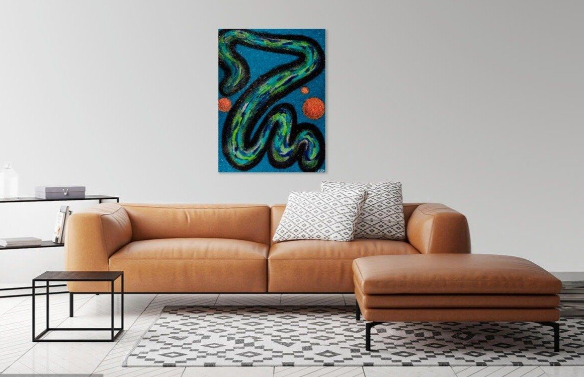 'Eels and Escalators' Original Abstract Painting Painting Joseph Dixon