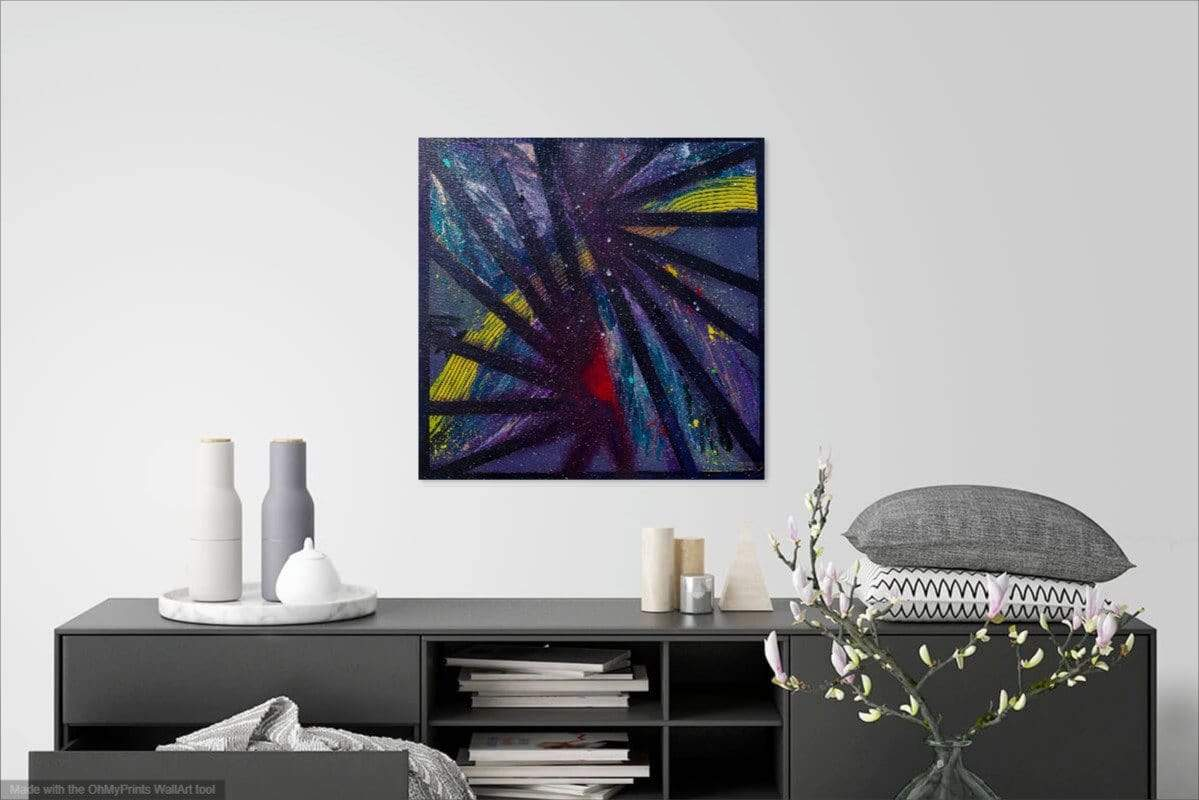 'Fractured' Original Abstract Painting Painting Joseph Dixon
