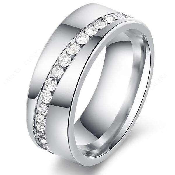 STEEL TIGRESS Stainless Steel Womens Wedding Ring - 8mm