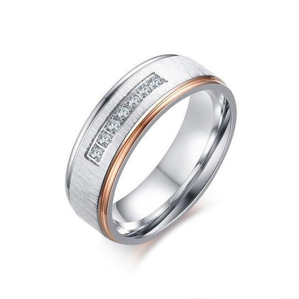 STEELTIGRESS™ Rosen Womens Wedding Ring - 7mm - Spendarella™