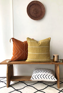 Burnt orange boho cushion Aztec House