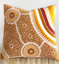 Load image into Gallery viewer, indigenous cushion, australia art