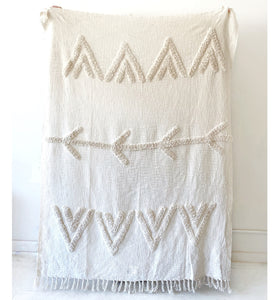 Tufted Maya throw