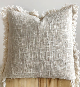 Boho raw cotton cushions, aztec house Australia