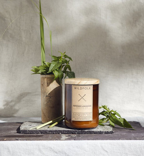 Wildfolk soy candle | Peppermint & Lemongrass