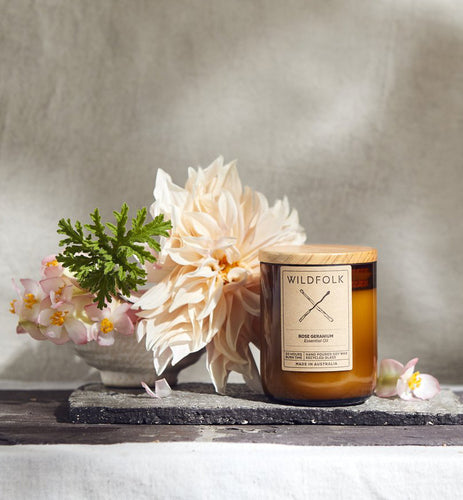 Wildfolk soy candle | Rose Geranium