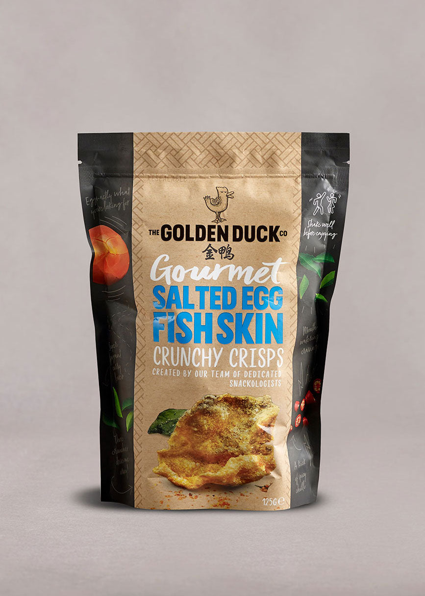 Gourmet Salted Egg Fish Skin Crunchy Crisps - The Golden Duck Co. International