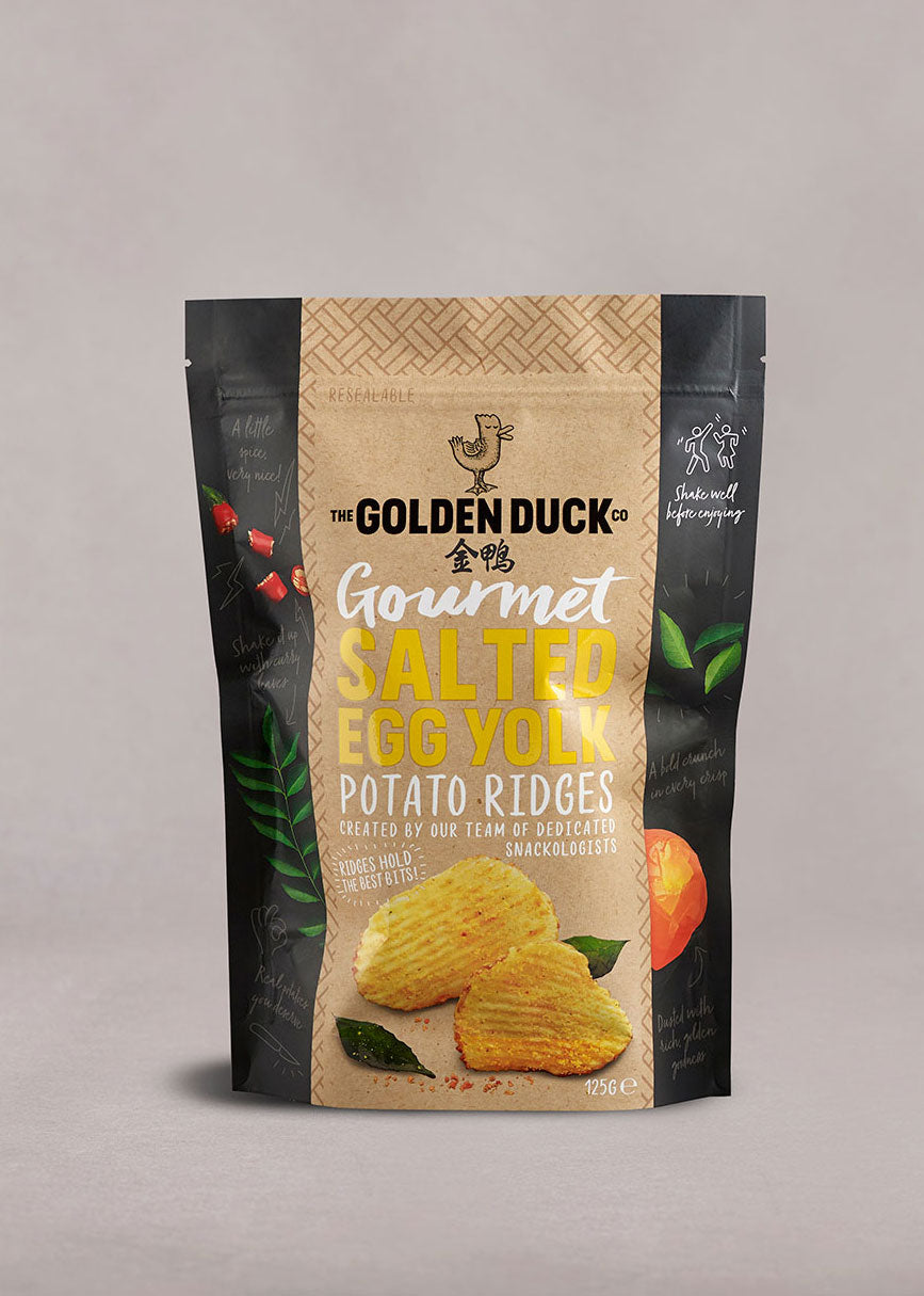 Gourmet Salted Egg Yolk Potato Ridges