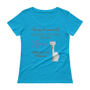 Ladies' Scoopneck T-Shirt - Be an Alpaca
