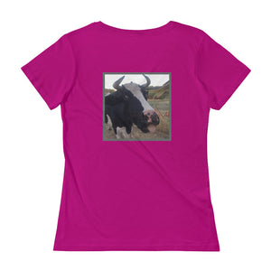 Ladies' Scoopneck T-Shirt - STu - Not in the Moooood!
