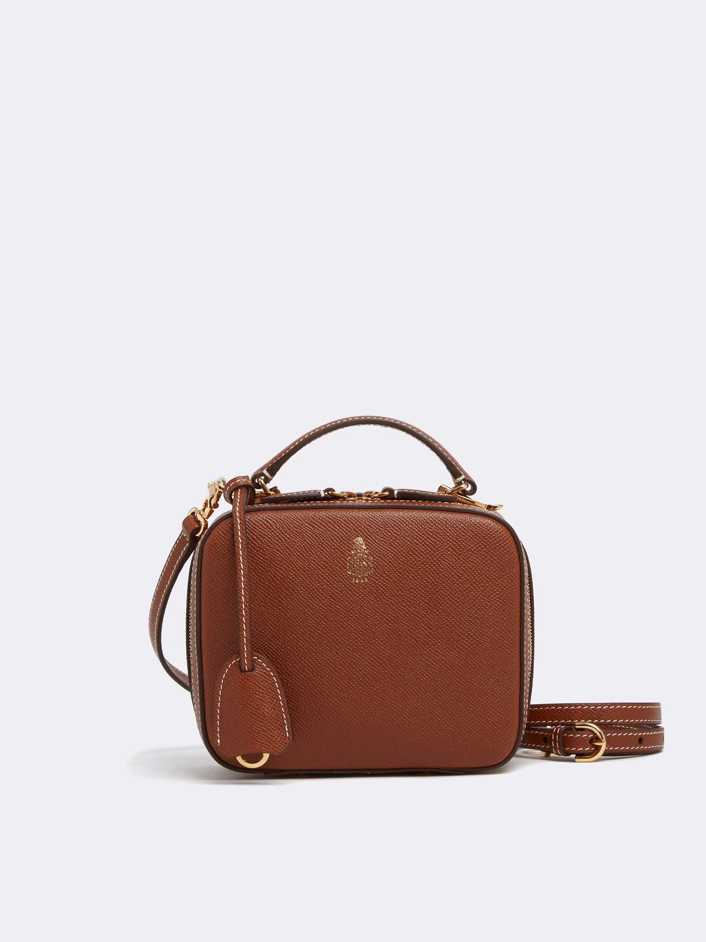 Mark Cross Baby Laura Leather Crossbody Bag Saffiano Acorn Front