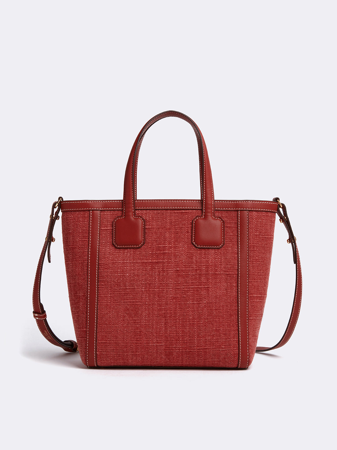 Antibes Small Linen & Leather Tote Bag