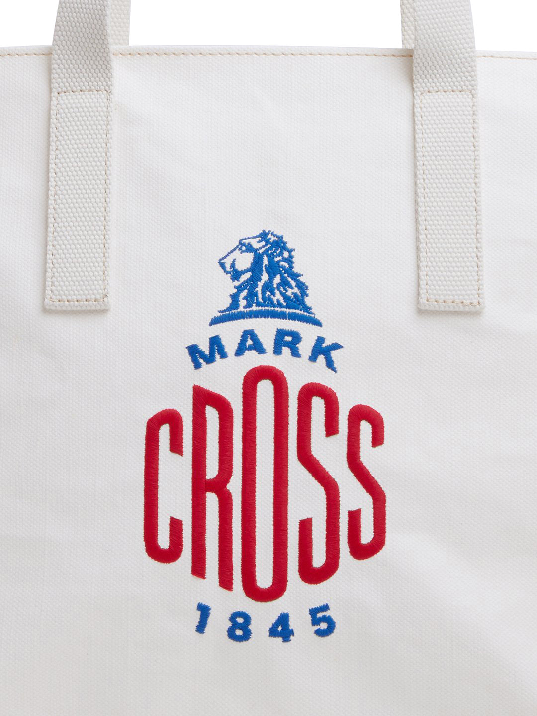 Mark Cross Weatherbird Canvas Small Tote Bag Canvas White Detail