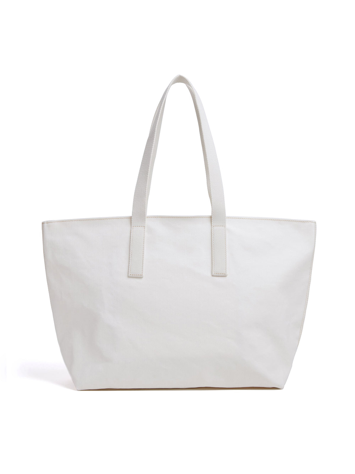 Mark Cross Weatherbird Canvas Small Tote Bag Canvas White Back