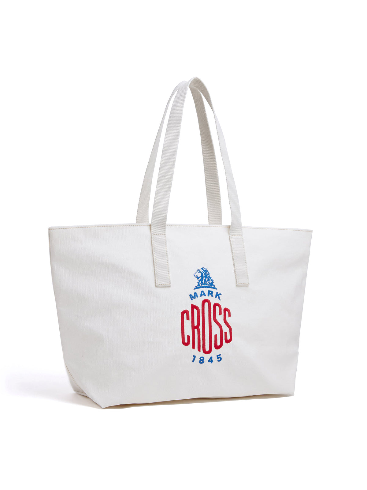 Mark Cross Weatherbird Canvas Small Tote Bag Canvas White Side
