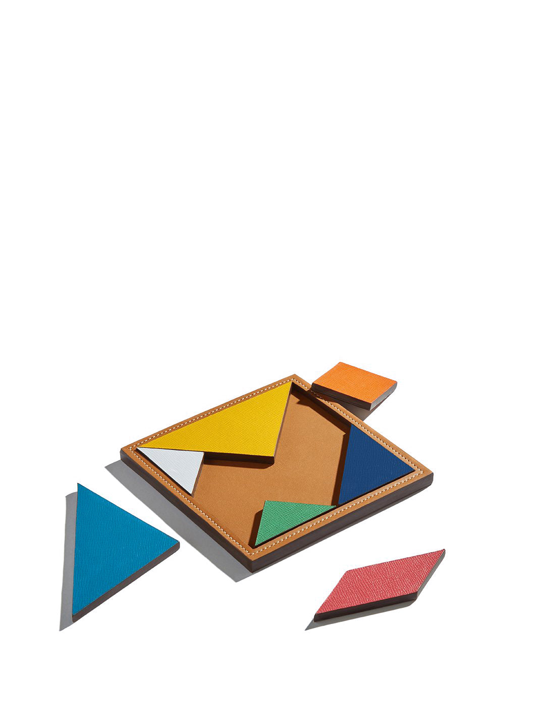 Leather Tangram Game
