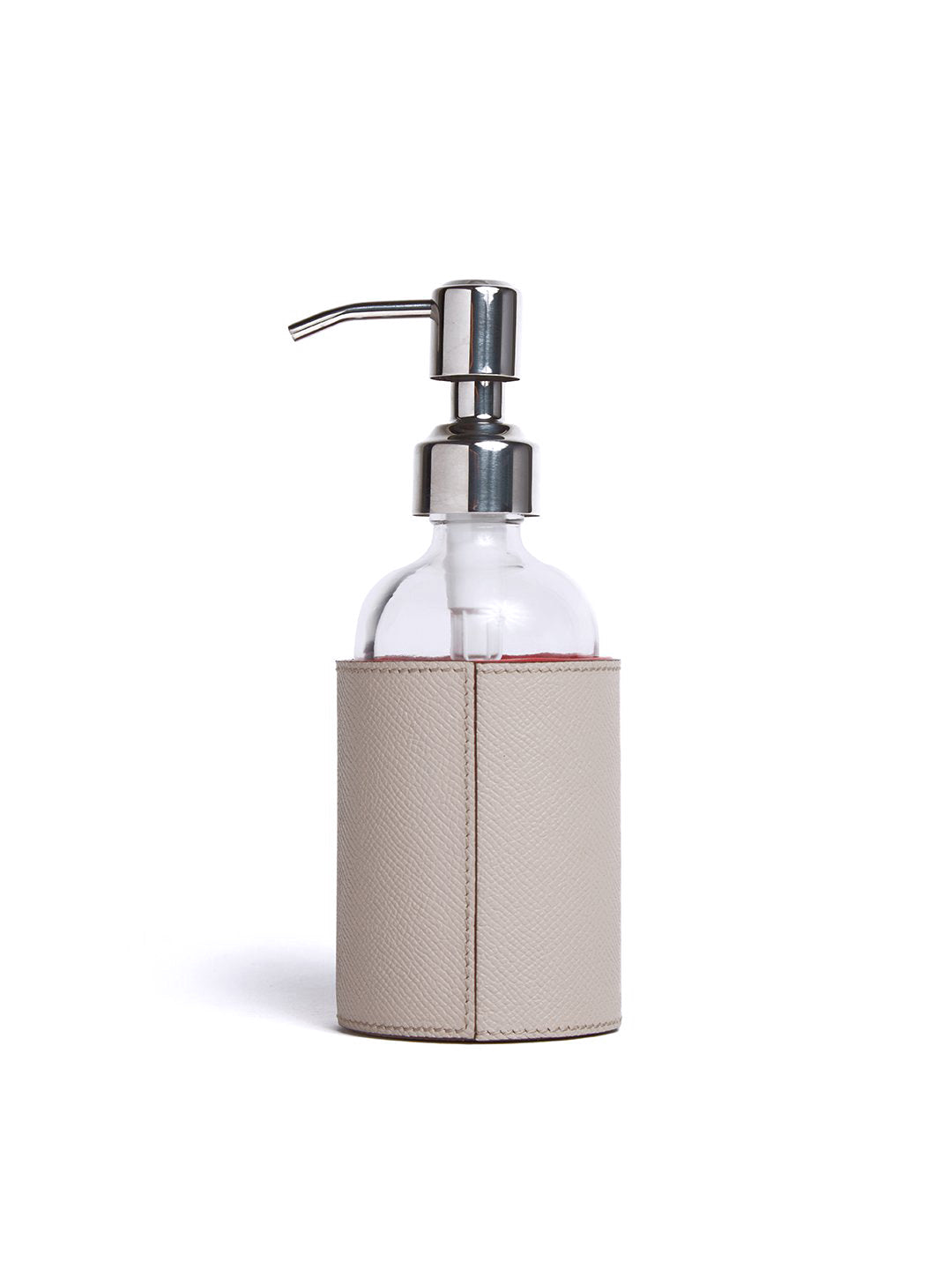 Recycled Glass Sanitizer Bottle with Leather Holder