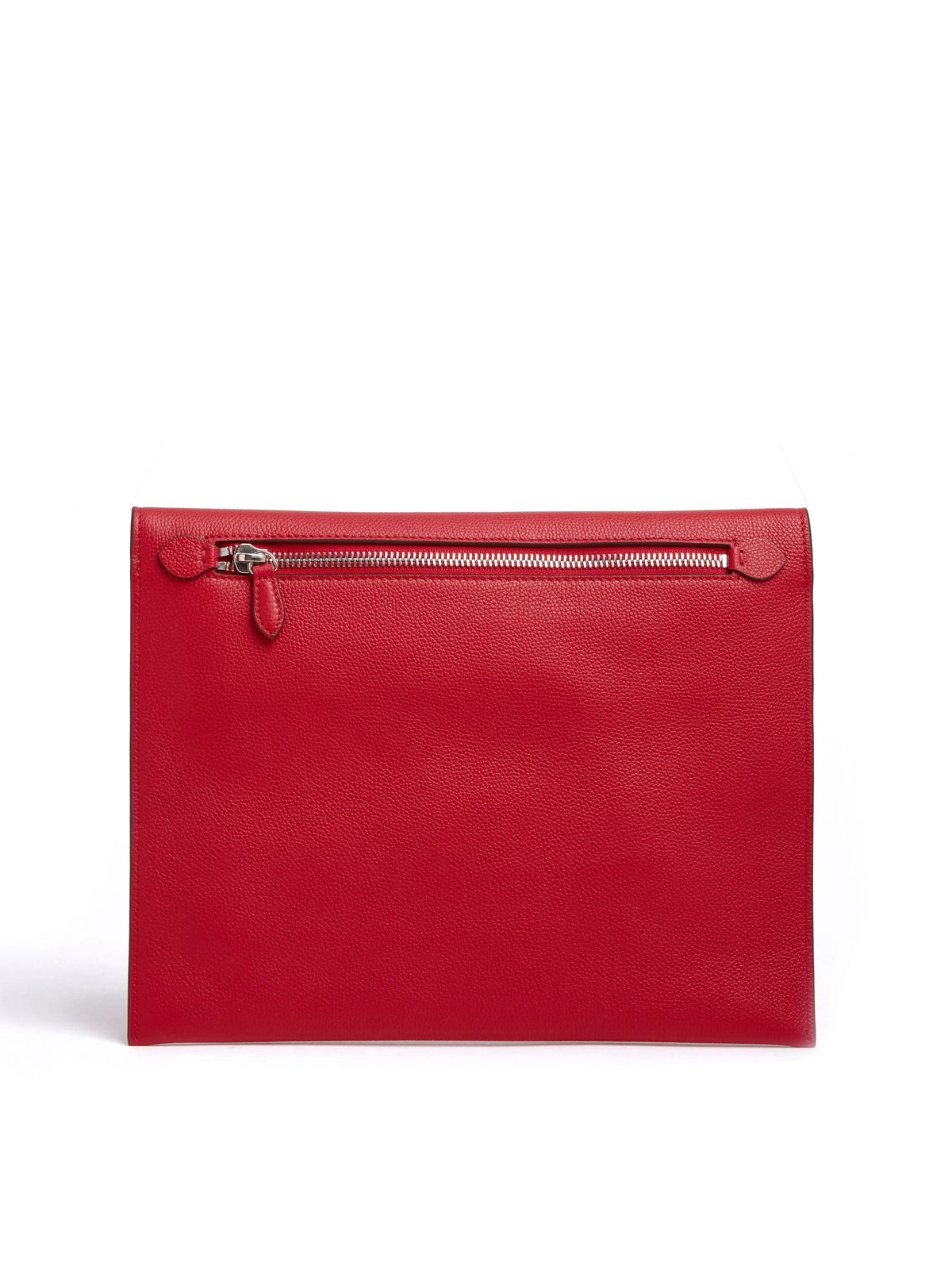 Mark Cross Diver Leather Folio Tumbled Grain Mc Red Back