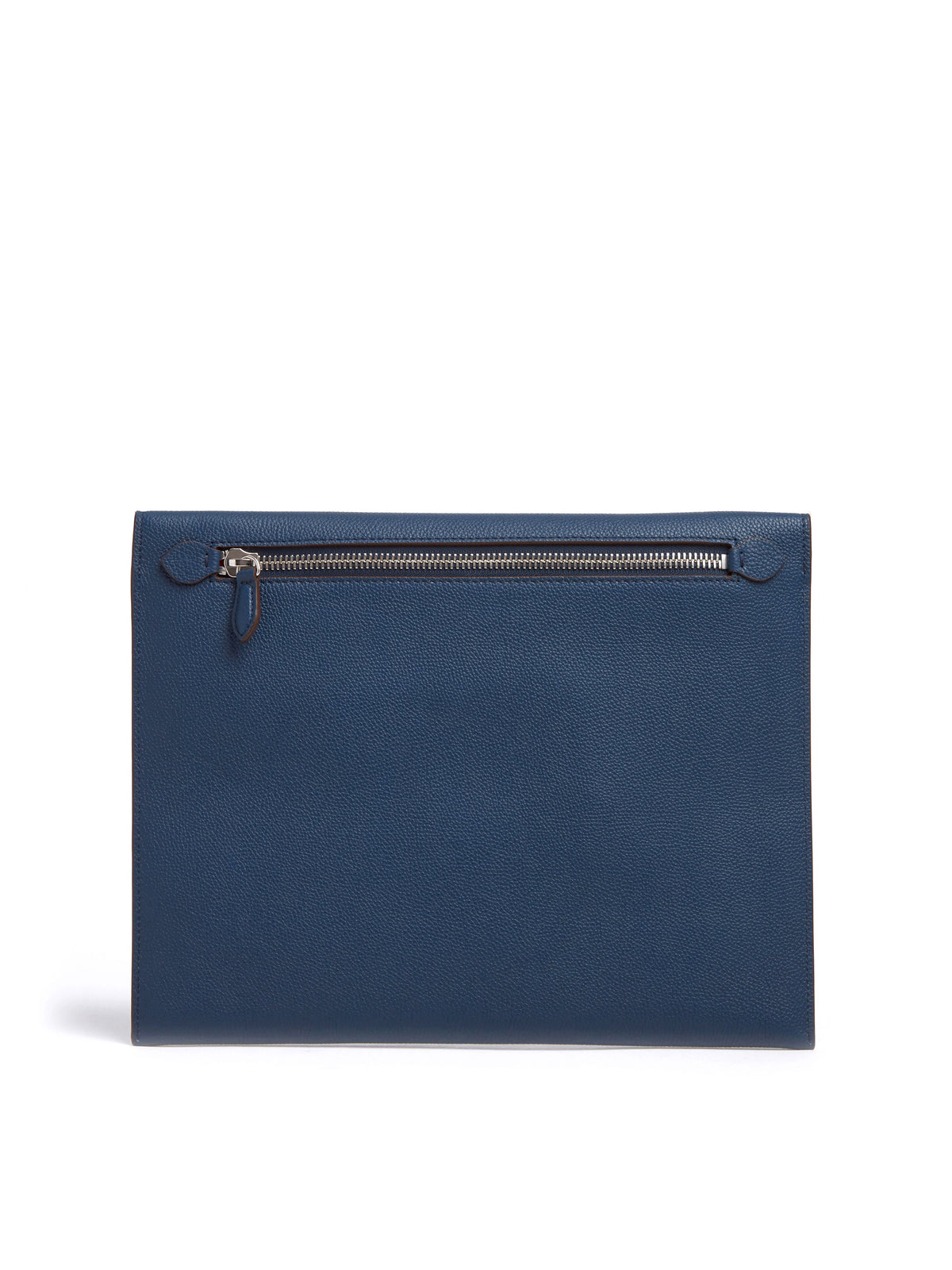 Mark Cross Diver Leather Folio Tumbled Grain Navy Back