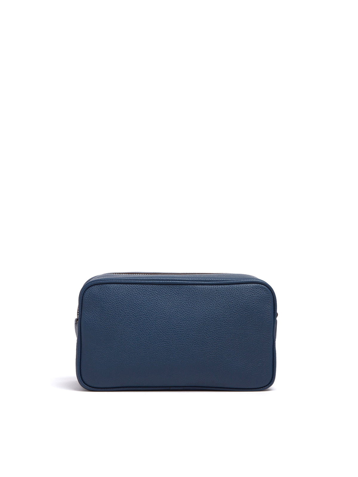Mark Cross Leather Wash Bag Tumbled Grain Navy Back
