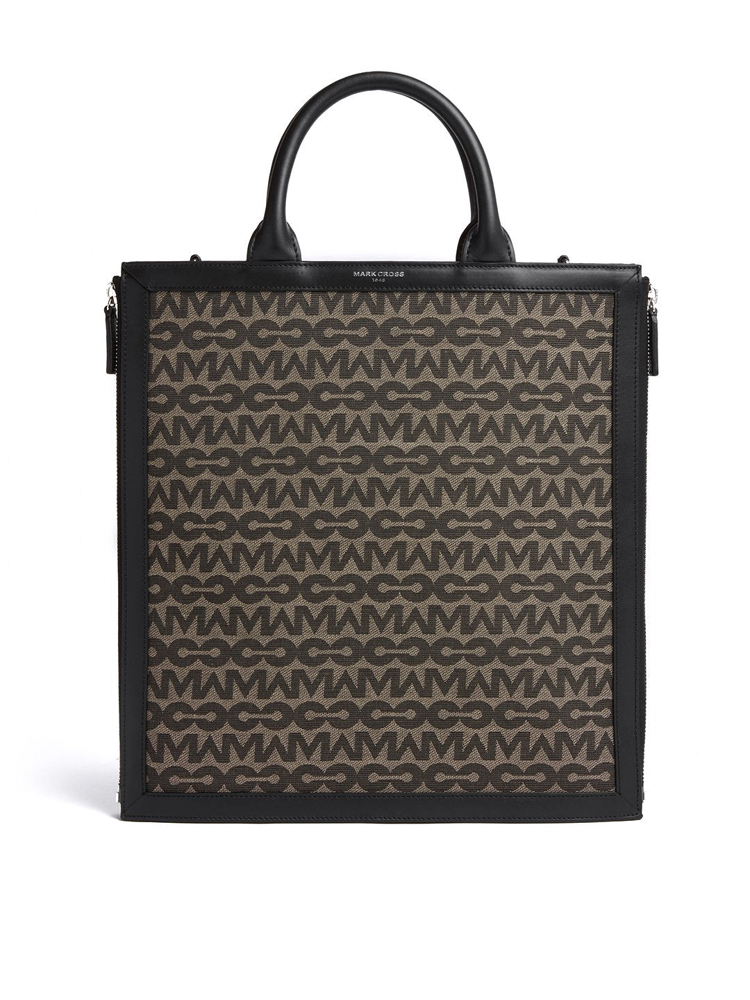 Sidney MC Jacquard & Leather Tote Bag