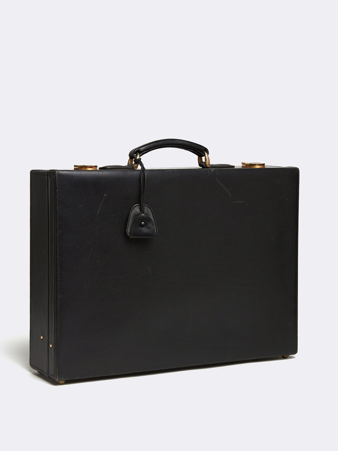 Archive Leather Hard Sided Briefcase With Folio