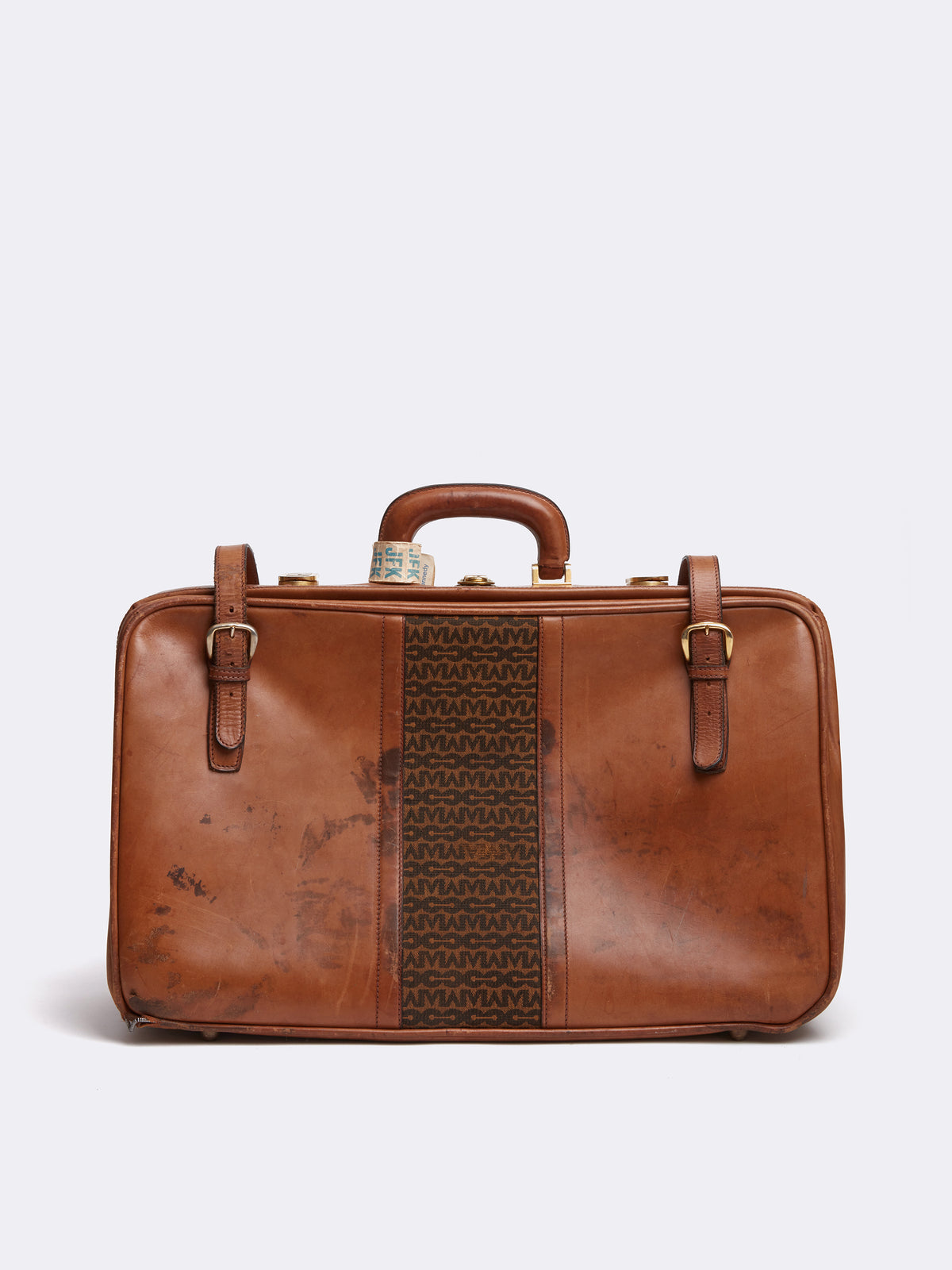Mark Cross Archive Leather Luggage Travel Bag Cognac Front